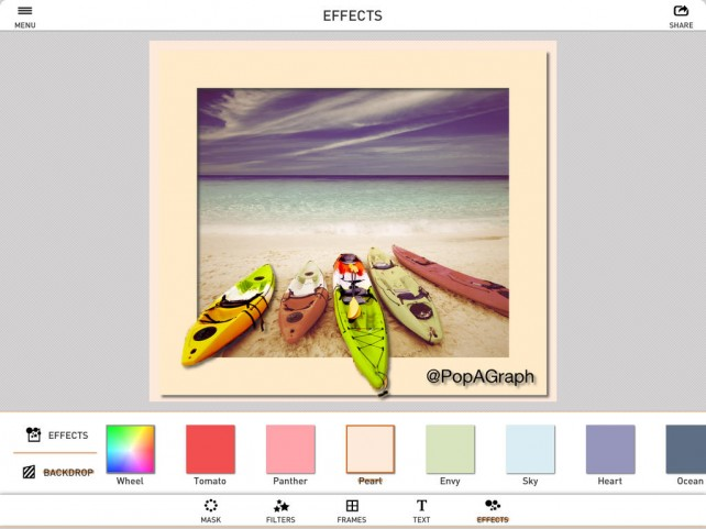 PopAGraph Updated With New Filters, New Fonts And New Animated GIF Export Option