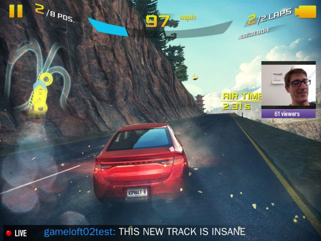 Gameloft's Asphalt 8: Airborne Is First Ever Mobile Game To Feature Twitch Streaming