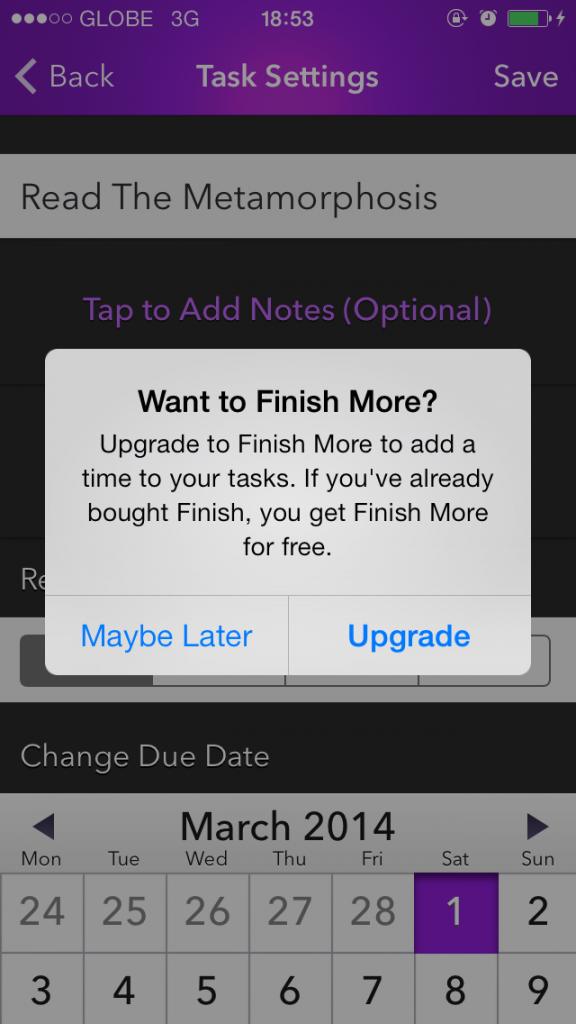 Acclaimed To-Do App Finish Goes Free, Offers Upgrade To Let You Finish More