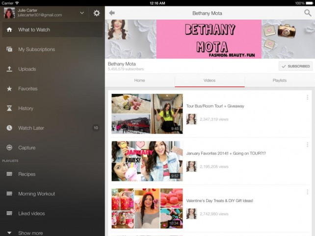 Google Updates YouTube For iOS With Playlist And Commenting Enhancements