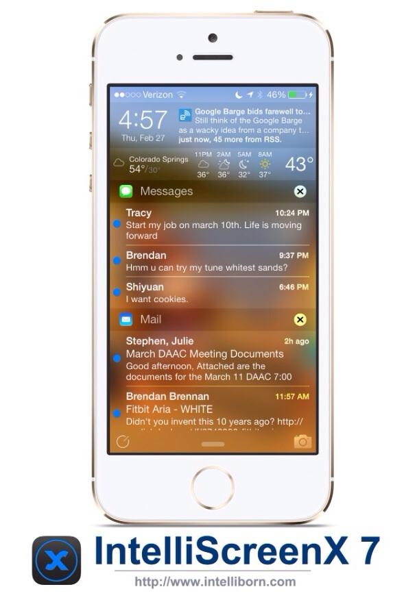 Cydia Tweak: Intelliborn Launches IntelliScreenX For iOS 7