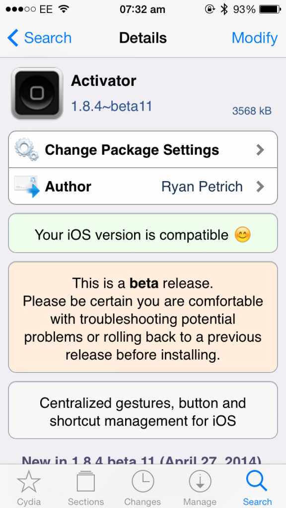 Cydia Tweak: Activator Beta Updated To Add Speech Synthesis