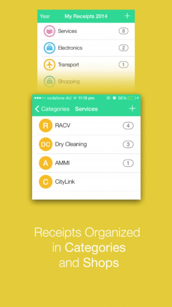 Receipts Collector iPhone App Scans, Stores And Organizes Receipts