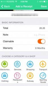 Receipts Collector by Xuan ZHONG screenshot