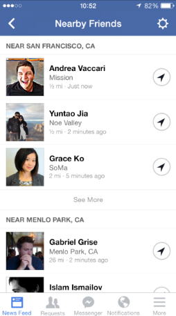 Facebook Introduces A New 'Nearby Friends' Feature For The iPhone