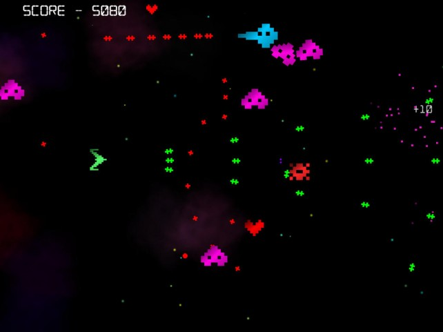 Blast Your Way Through Hordes Of Enemy Ships In The Frantic Action Of Hectic Space