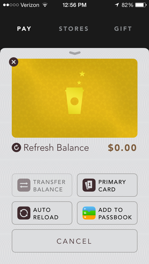 Starbucks Makes It Easier For iPhone App Users To Manage Their Gift Cards
