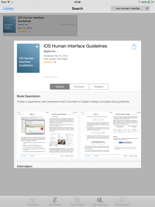 Apple Publishes iOS Human Interface Guidelines For iOS Developers On The iBookstore