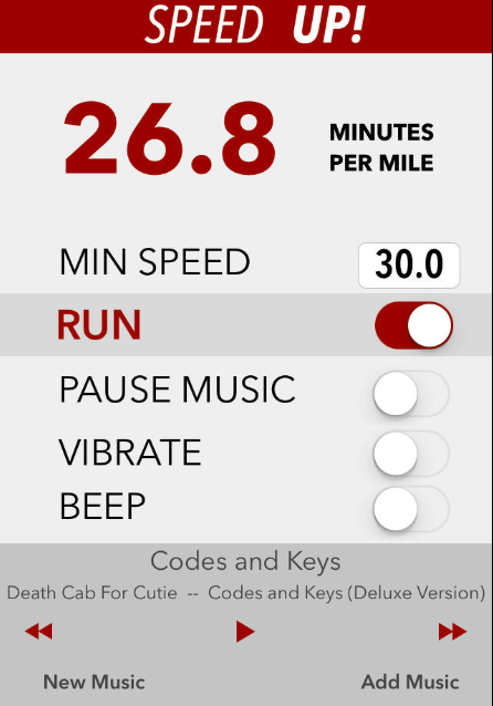 The Speed Up App Motivates Runners To Beat Their Best Time