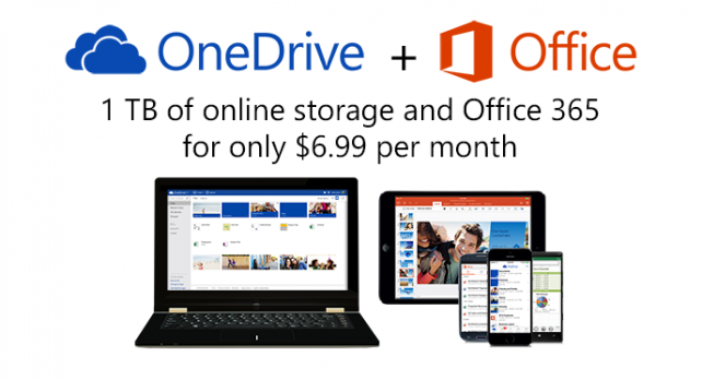 Microsoft Office 365 Subscriptions To Come With 1TB Of OneDrive Data