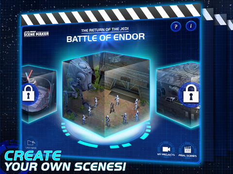Change The Universe In Disney's Star Wars Scene Maker App For iPad