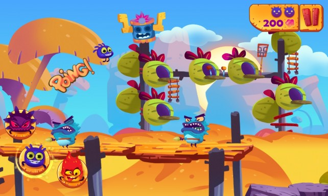 Stomp, Double-Jump And Dash In The Platformer-Runner Mighty Adventure