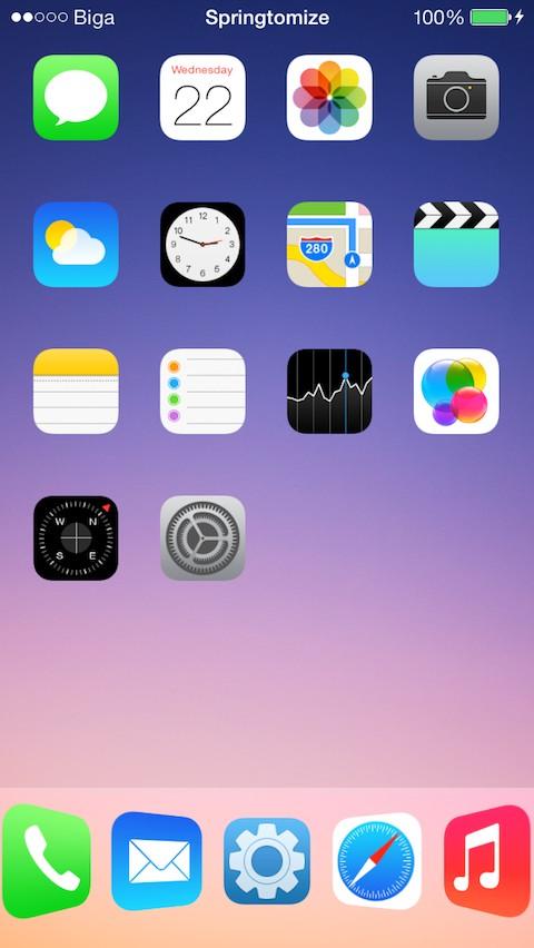 Cydia Tweak: Springtomize 3 nyní rovněž běží i na iOS 7.1.x