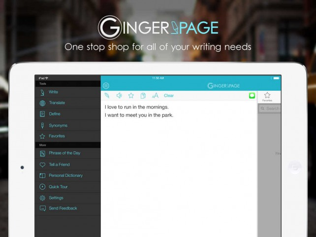 Writing Enhancement App Ginger Page Goes 2.0 With Universal Support For iPad