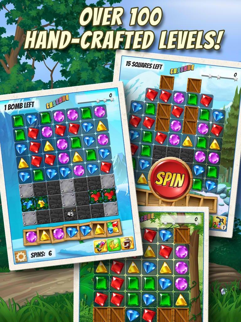 Big fish 39 s candy crush saga competitor cascade offers a for Cascade big fish game