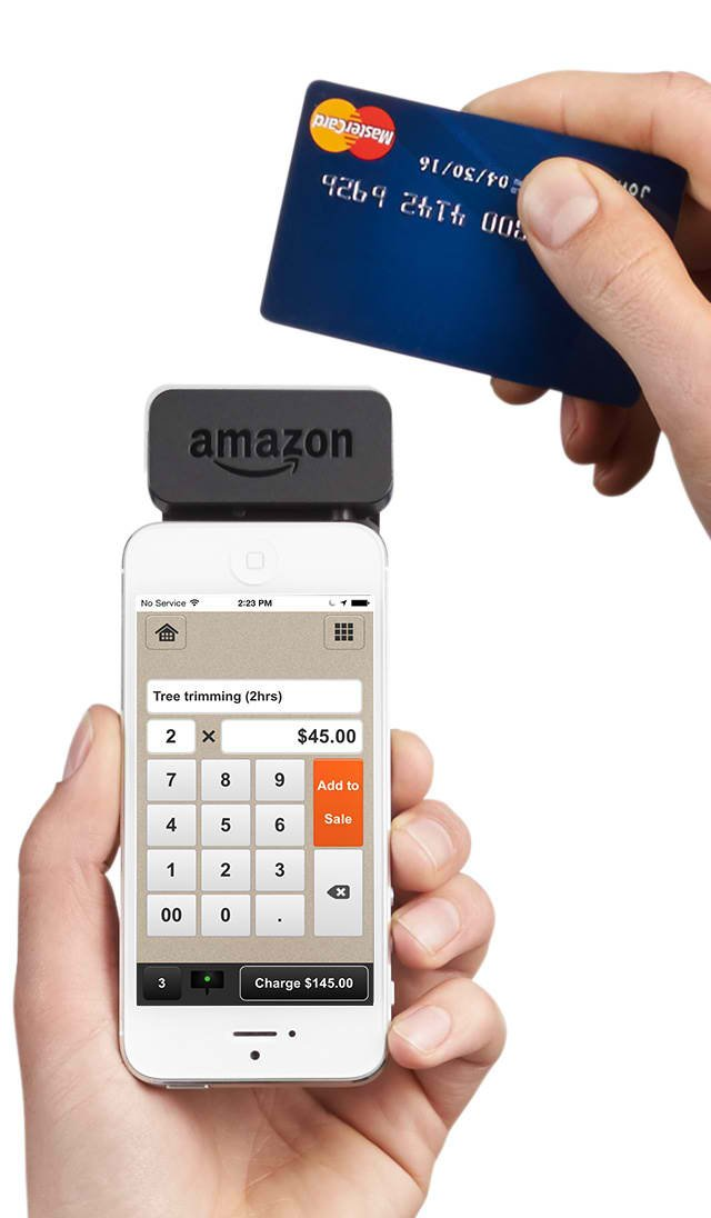 amazon takes on square and paypal with new local register credit card reader - Paypal Credit Card Swiper
