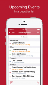 Cal List - Calendar events in a list by Yaniv Katan screenshot