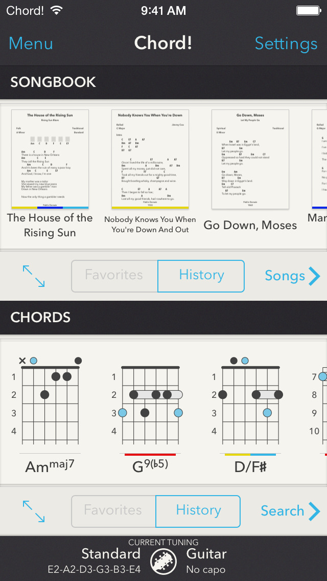Chord! guitar app goes 2.0 with universal support, new songbook mode ...
