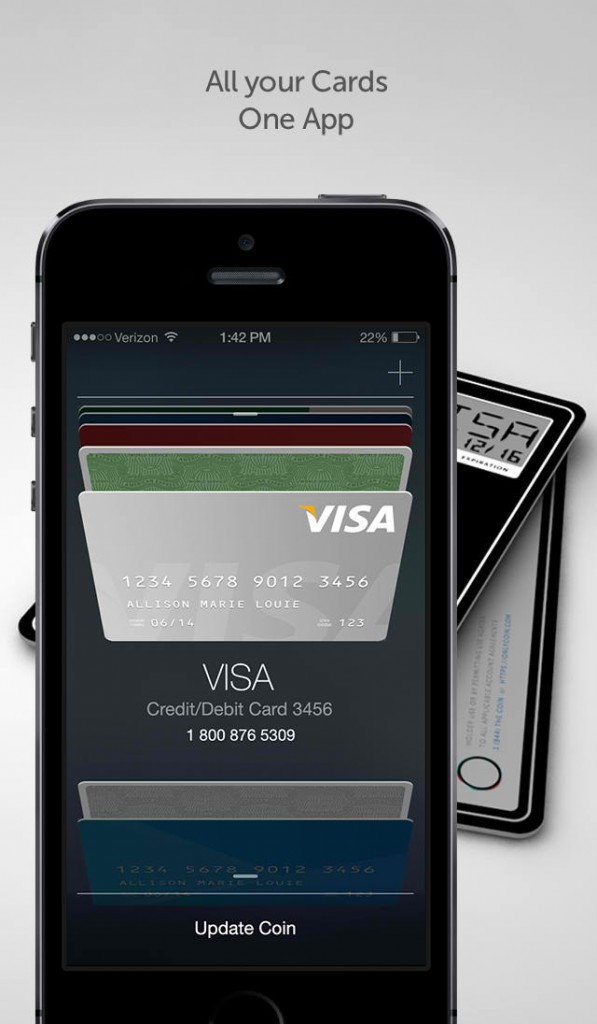 Official iOS app of so-called 'credit card of the future' Coin out now for beta users