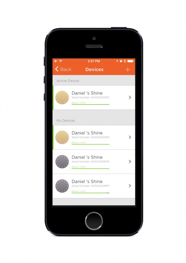 Misfit for iOS updated with support for multiple Shine wearable activity trackers