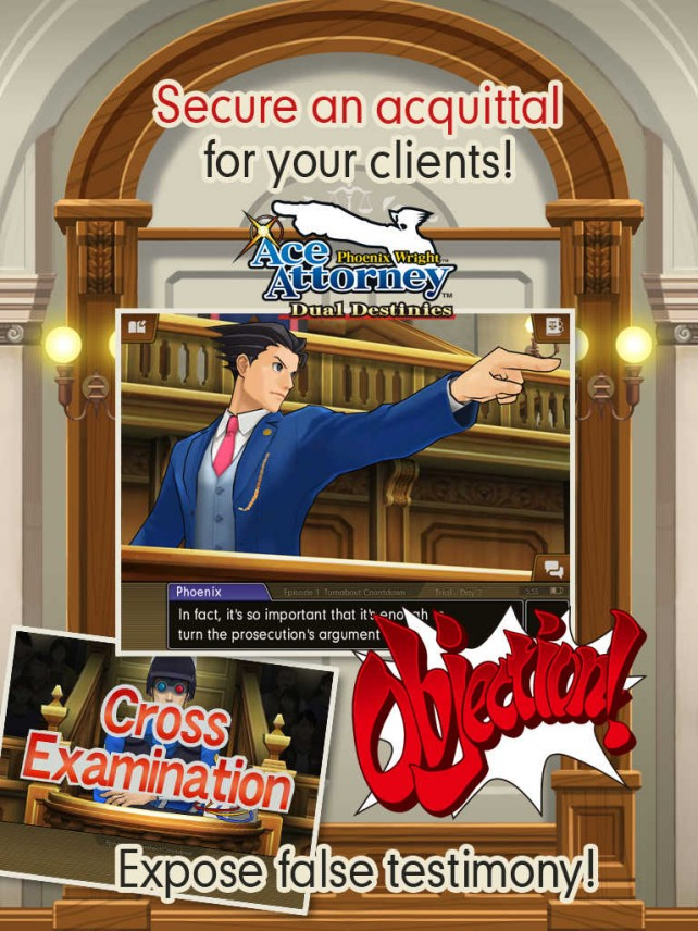 No objections? Then play Phoenix Wright: Ace Attorney – Dual Destinies on iOS now