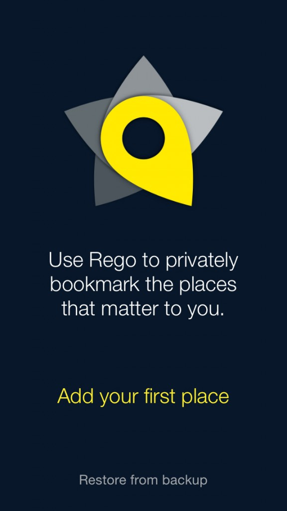 Rego location-bookmarking app goes 2.0 with iOS 7 redesign and new features