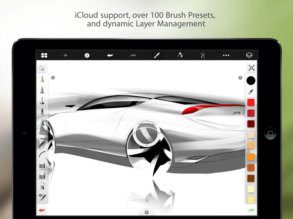 Autodesk 39 S Sketchbook For Iphone And Ipad Goes Free As