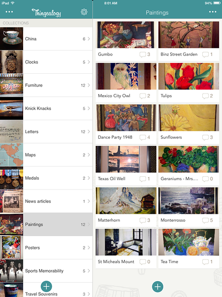 Save and share the stories behind your treasured things with Thingealogy for iOS