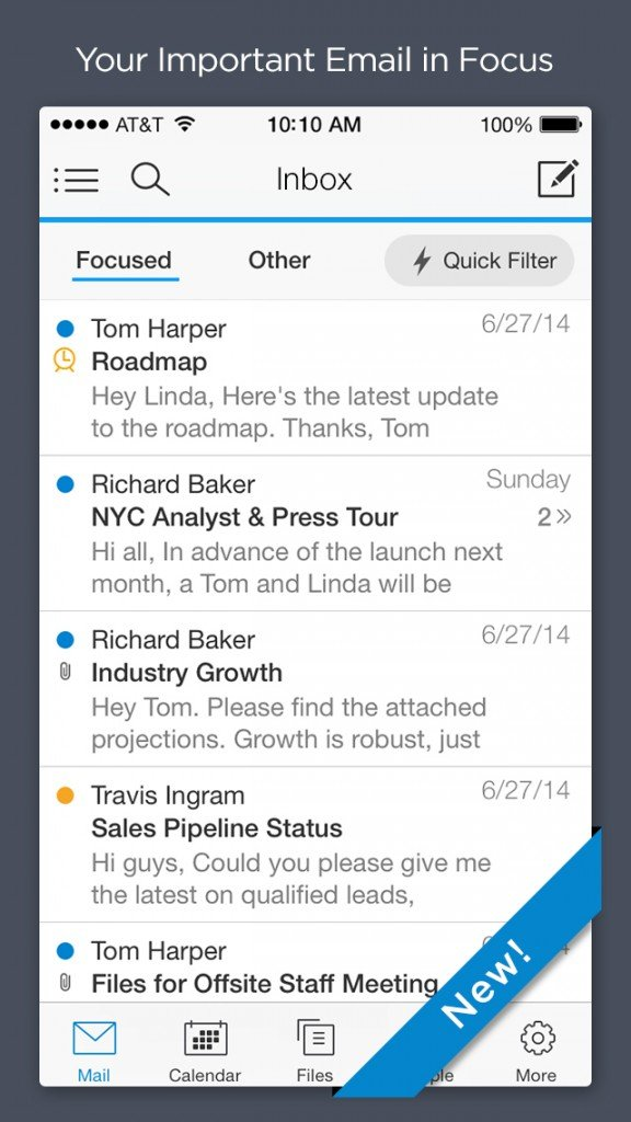 Acompli update delivers new Focused Inbox and email scheduling features