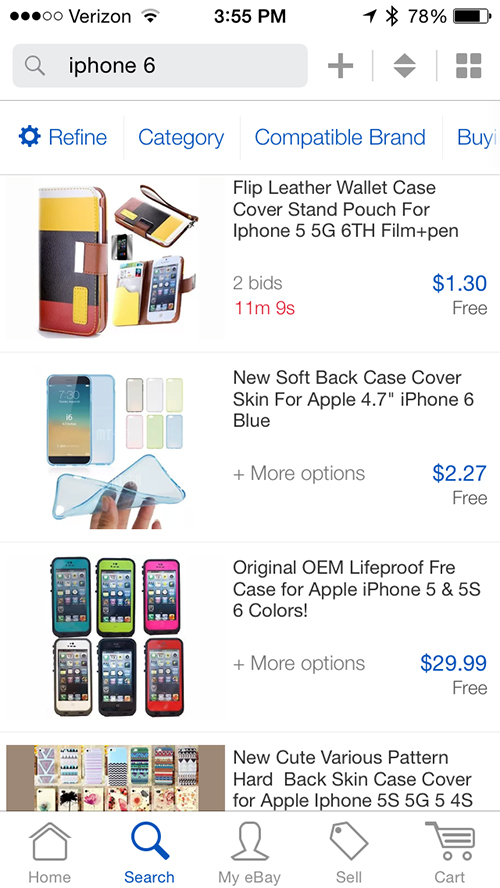 Updated eBay app for the iPhone brings in-app notifications and more