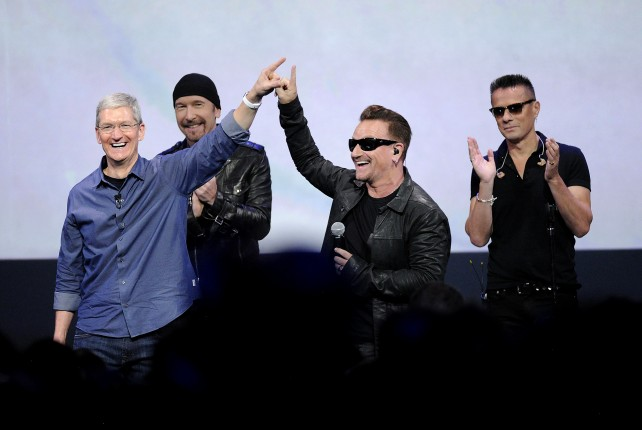 U2′s free album cost Apple $100 million