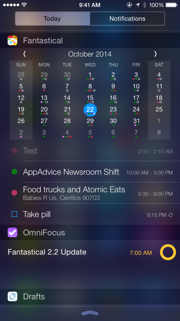 Fantastical 2 for iPhone and iPad gets optimized for iOS 8 with new features