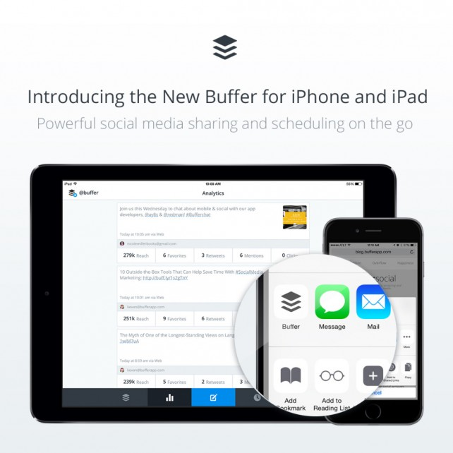 Buffer 4.0 features universal support for iPad and sharing enhancements on iOS 8