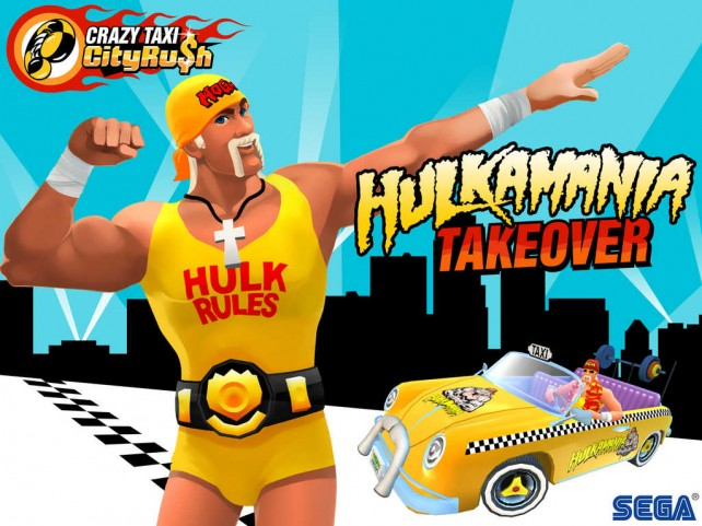 Hulk Hogan takes over Sega's Crazy Taxi City Rush … just because he can