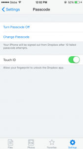 Dropbox app updated with optimizations for iPhone 6 and support for Touch ID on iOS 8