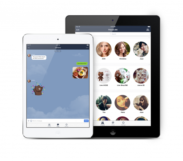 Line messaging app finally comes to iPad, albeit with limited features