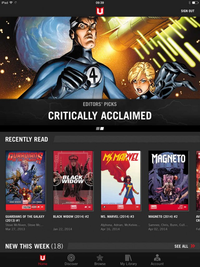 Marvel Unlimited for iOS updated with new features for improved reading experience