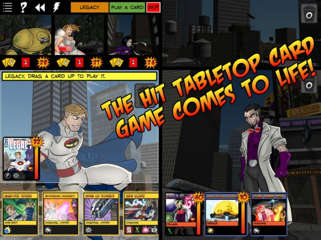 Sentinels of the Multiverse comics-style card game now playable on iPad