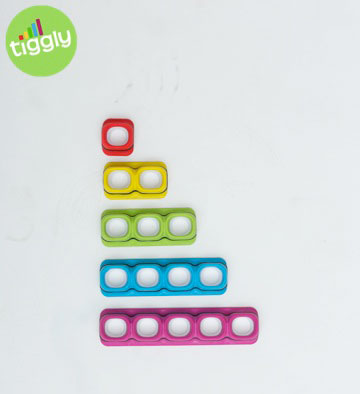 The complete set of toys represent the numbers one through five.