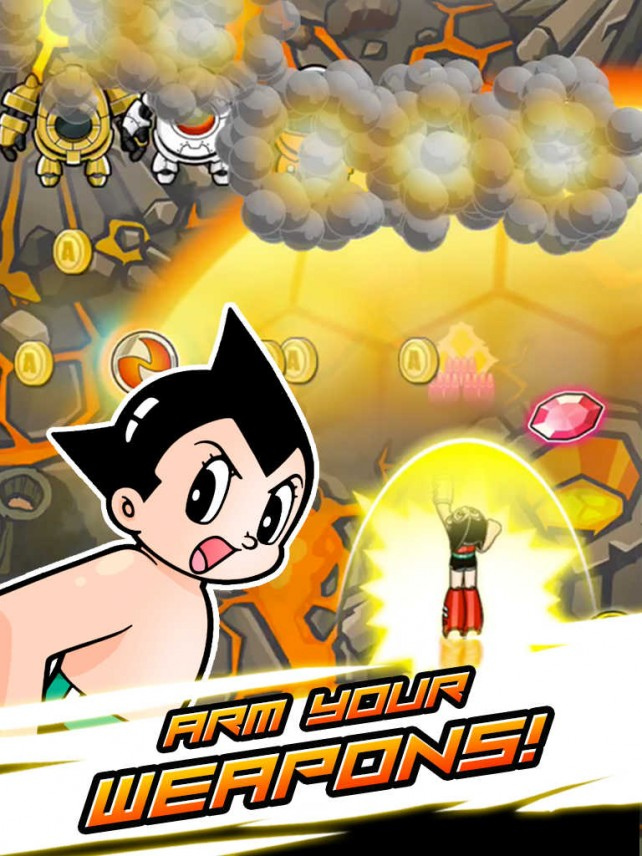 Take flight and blast rogue robots in this new endless shooter starring Astro Boy