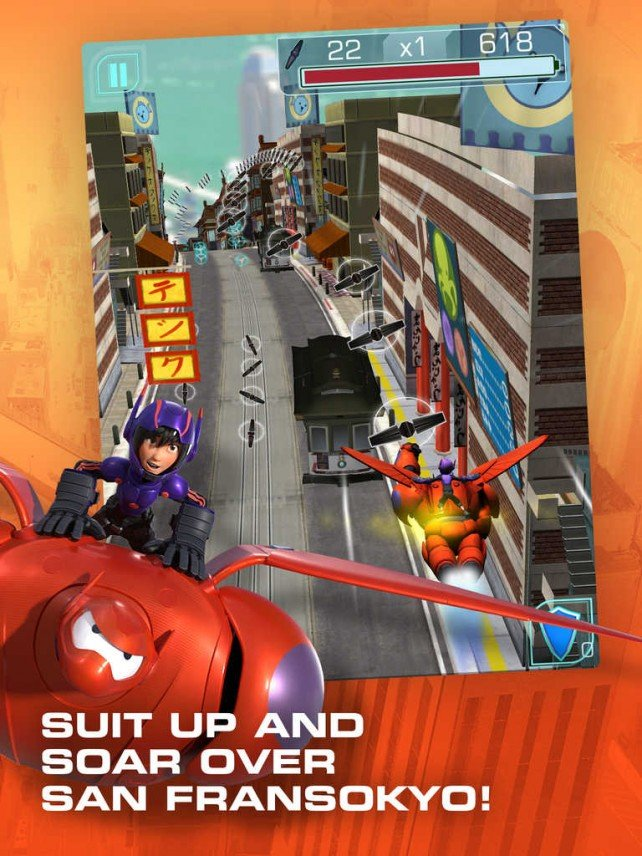 Disney lets you kick some bot in 2 new iOS games based on Marvel's 'Big Hero 6′