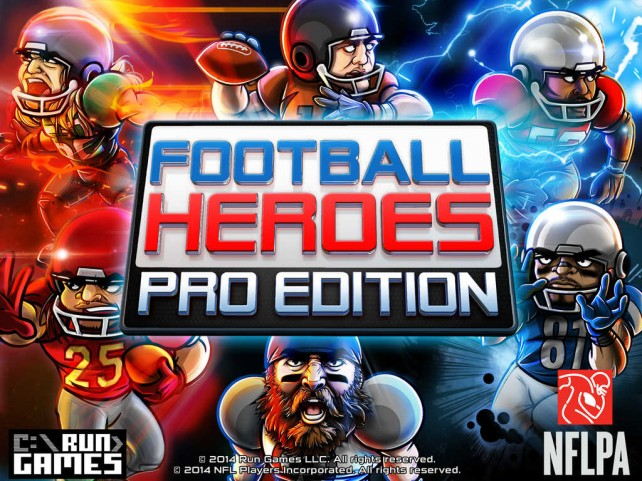 Form your ultimate NFL fantasy team in Run Games' Football Heroes: Pro Edition for iOS