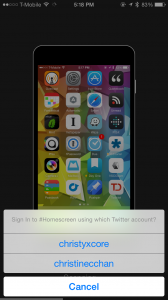 Sharing your home screen has never been easier thanks to our Honorable Mention for the week.