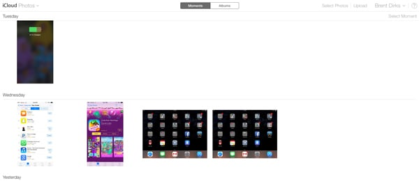 You can now manually upload photos via the iCloud.com site