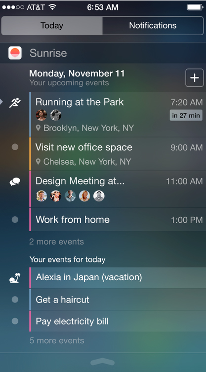 Sunrise Calendar is now optimized for the iPhone 6 and iPhone 6 Plus