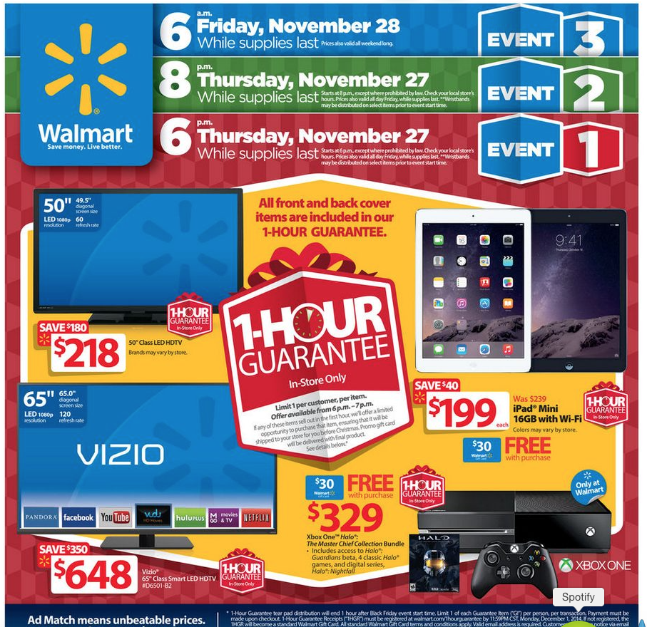 Walmart Starts Black Friday Sales A Week Early With Ipad Air 2 And Iphone 6 Deals