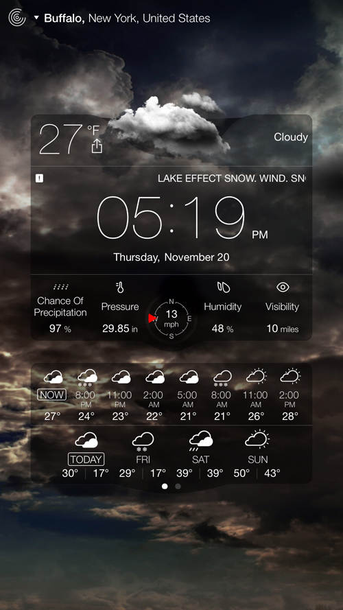 Weather Live update adds an alternative Notification Center widget and more