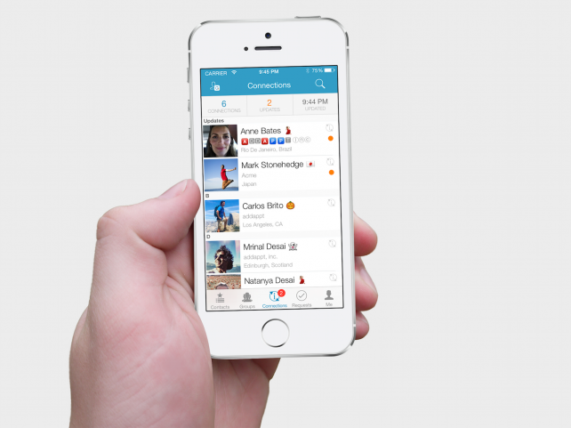 The 'living' addappt contacts app has been completely redesigned using Apple's Swift