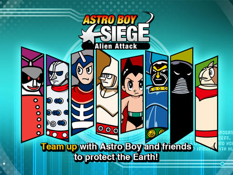 Help Atom and his allies fight the alien and robot invasion in Astro Boy Siege: Alien Attack