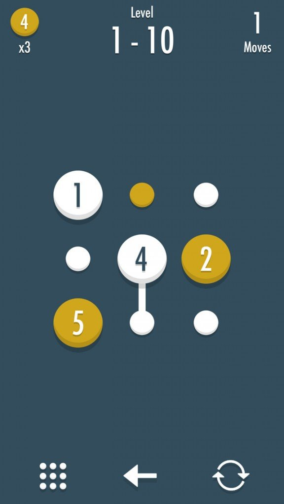 Noda is a new number puzzle game for iOS that combines Threes! and Dots